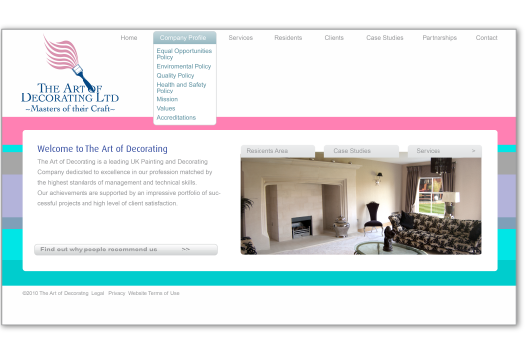 The Art of Decorating Website